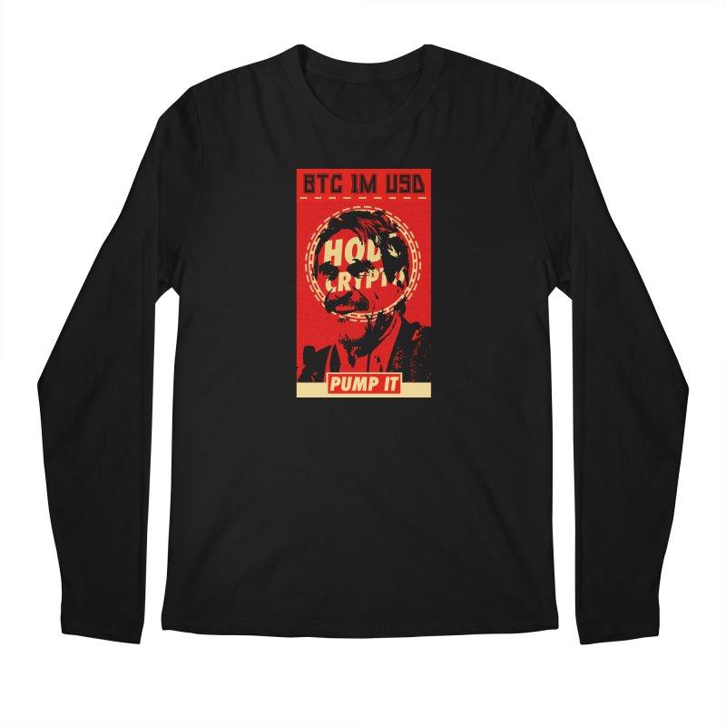 McAfee PUMP IT Men's Longsleeve T-Shirt by HODL's Artist Shop