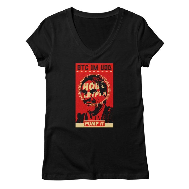 McAfee PUMP IT Women's V-Neck by HODL's Artist Shop