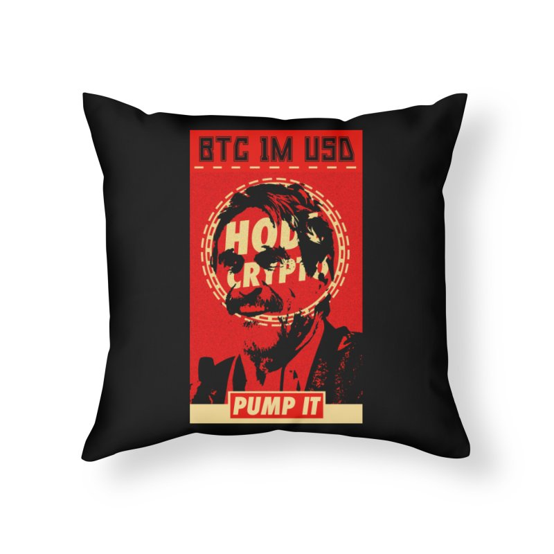 McAfee PUMP IT Home Throw Pillow by HODL's Artist Shop