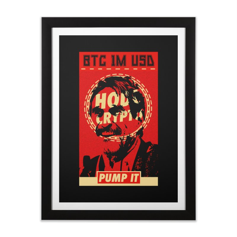 McAfee PUMP IT in Framed Fine Art Print Black by HODL's Artist Shop