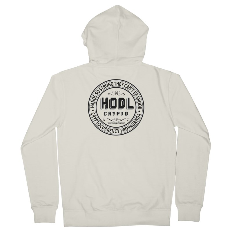 Hands So Strong Men's French Terry Zip-Up Hoody by HODL's Artist Shop