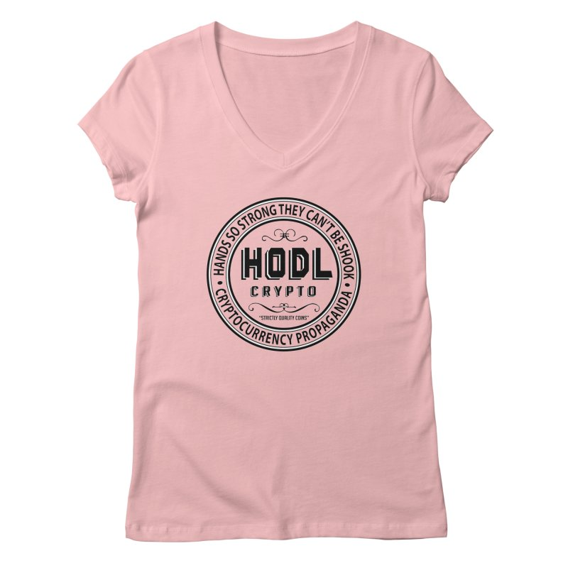 Hands So Strong Women's V-Neck by HODL's Artist Shop