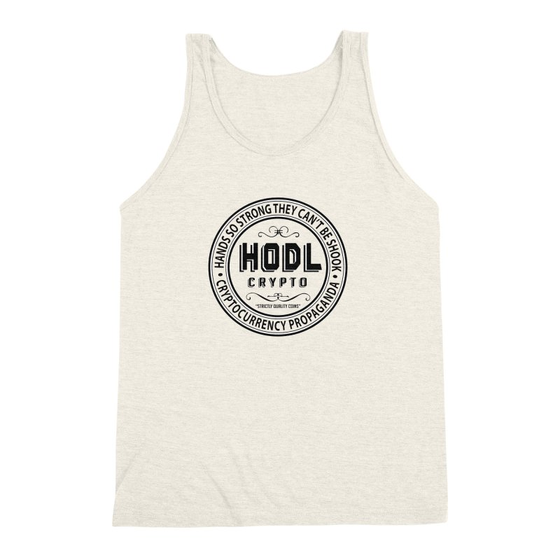 Hands So Strong Men's Triblend Tank by HODL's Artist Shop