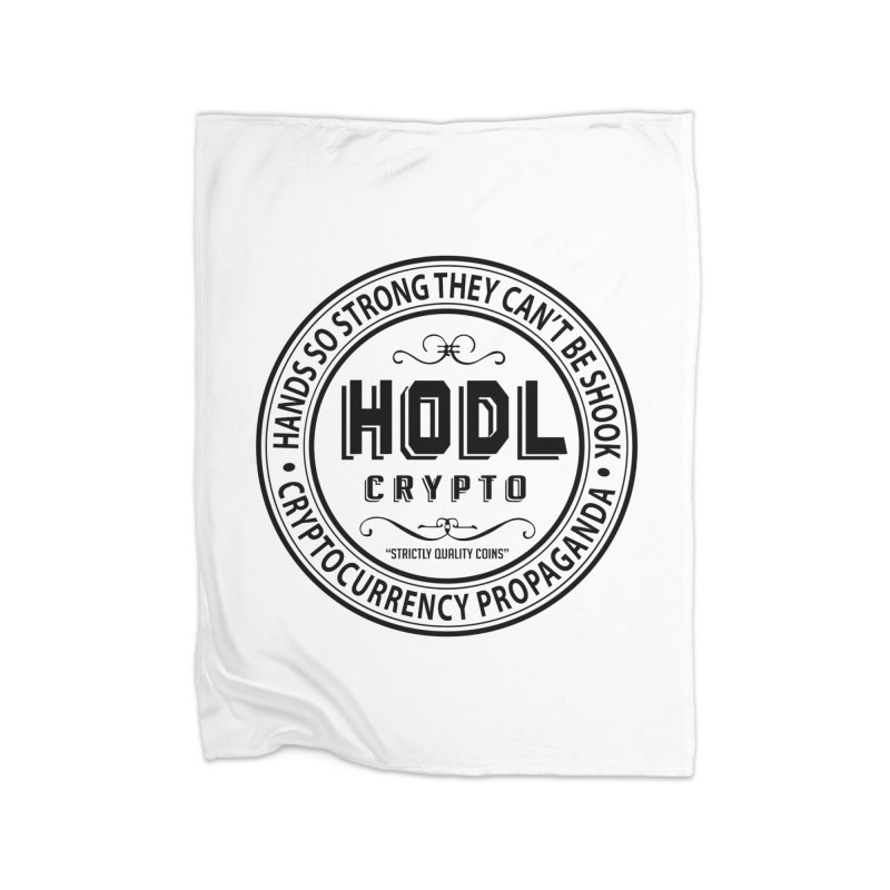 Hands So Strong Home Fleece Blanket Blanket by HODL's Artist Shop