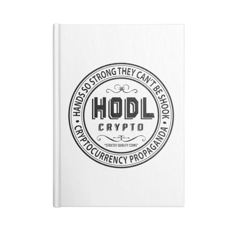 Hands So Strong Accessories Blank Journal Notebook by HODL's Artist Shop