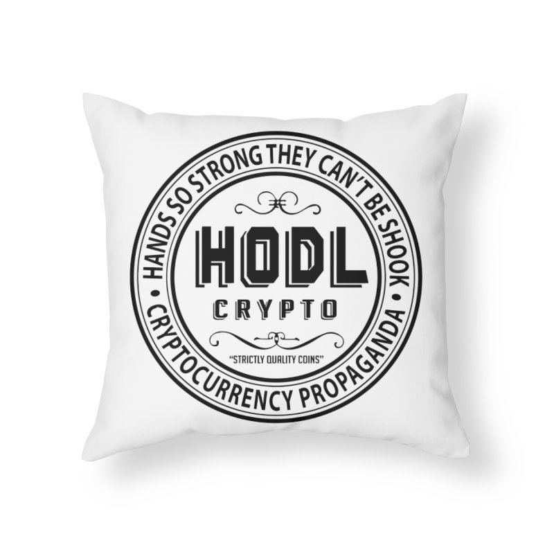 Hands So Strong Home Throw Pillow by HODL's Artist Shop