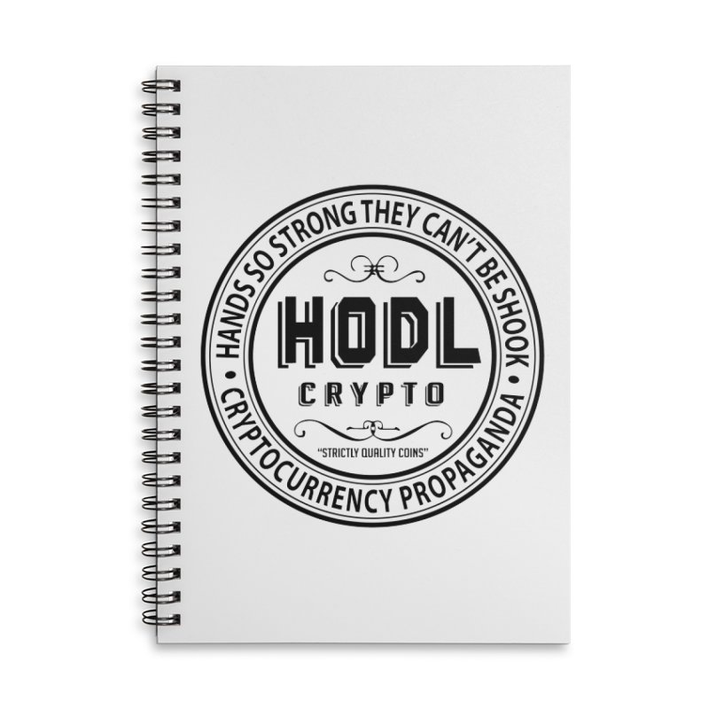 Hands So Strong Accessories Lined Spiral Notebook by HODL's Artist Shop