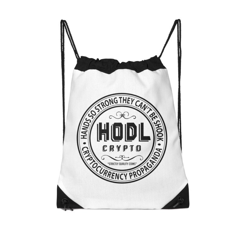 Hands So Strong Accessories Drawstring Bag Bag by HODL's Artist Shop