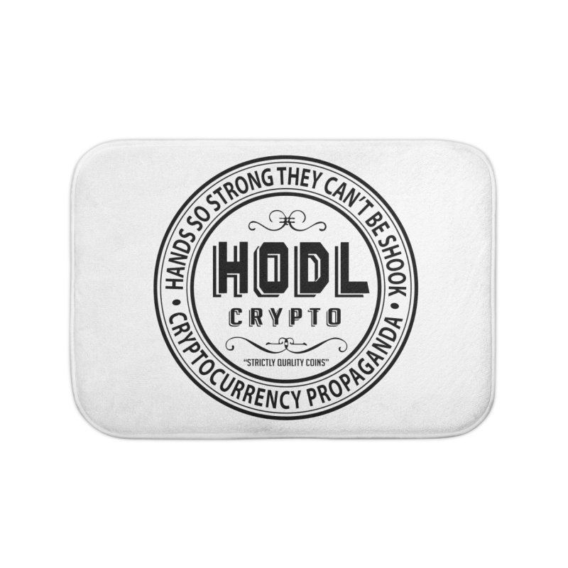 Hands So Strong Home Bath Mat by HODL's Artist Shop