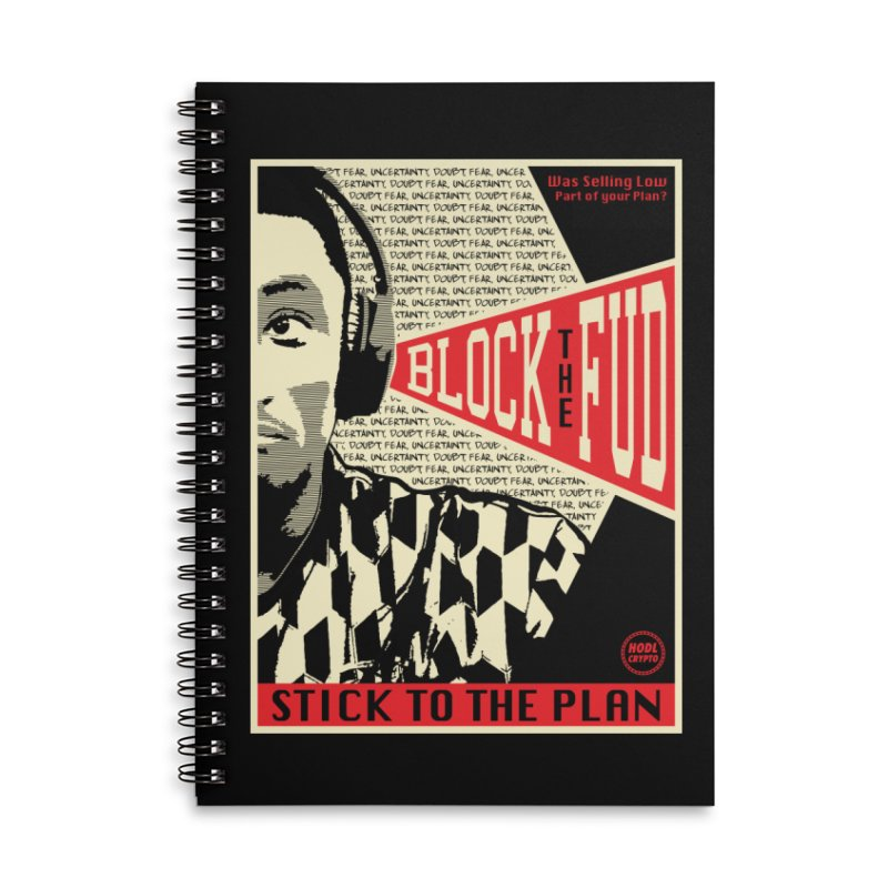 Block the Fud Accessories Lined Spiral Notebook by HODL's Artist Shop