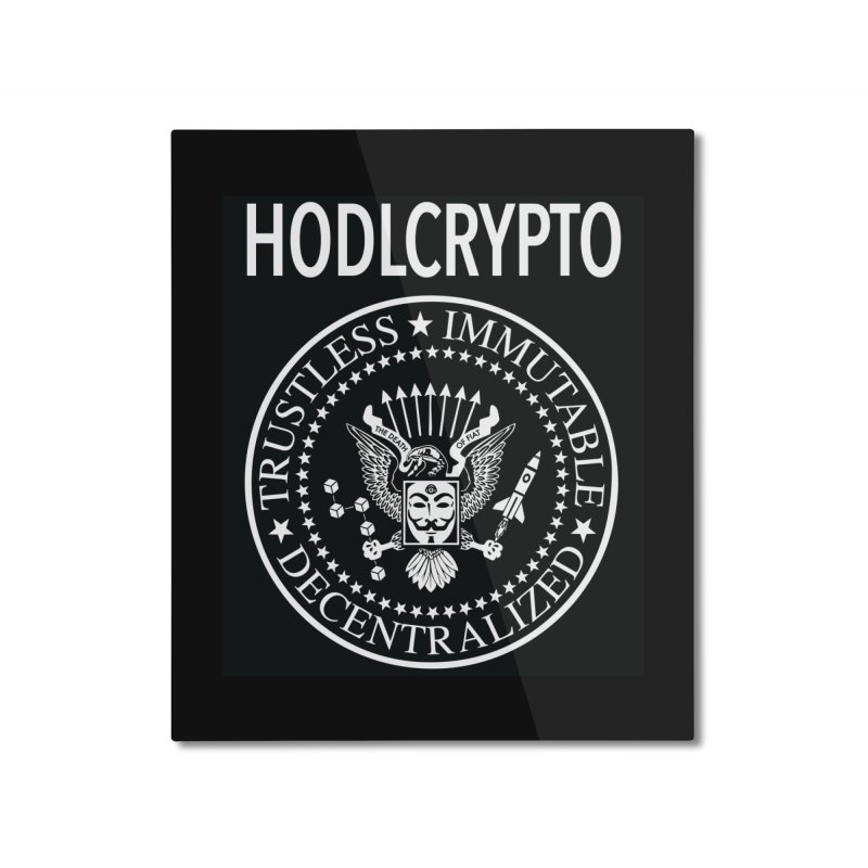 The Death of Fiat Home Mounted Aluminum Print by HODL's Artist Shop
