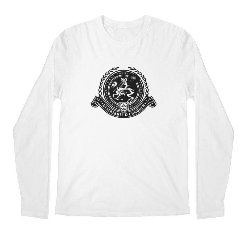Distribute & Conquer Men's Regular Longsleeve T-Shirt by HODL's Artist Shop