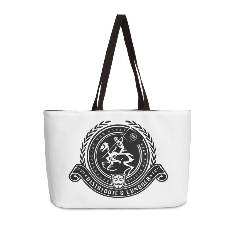 Distribute & Conquer Accessories Weekender Bag Bag by HODL's Artist Shop