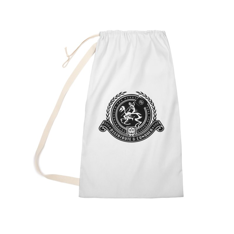Distribute & Conquer Accessories Laundry Bag Bag by HODL's Artist Shop