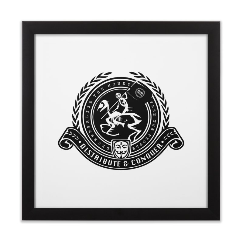 Distribute & Conquer Home Framed Fine Art Print by HODL's Artist Shop