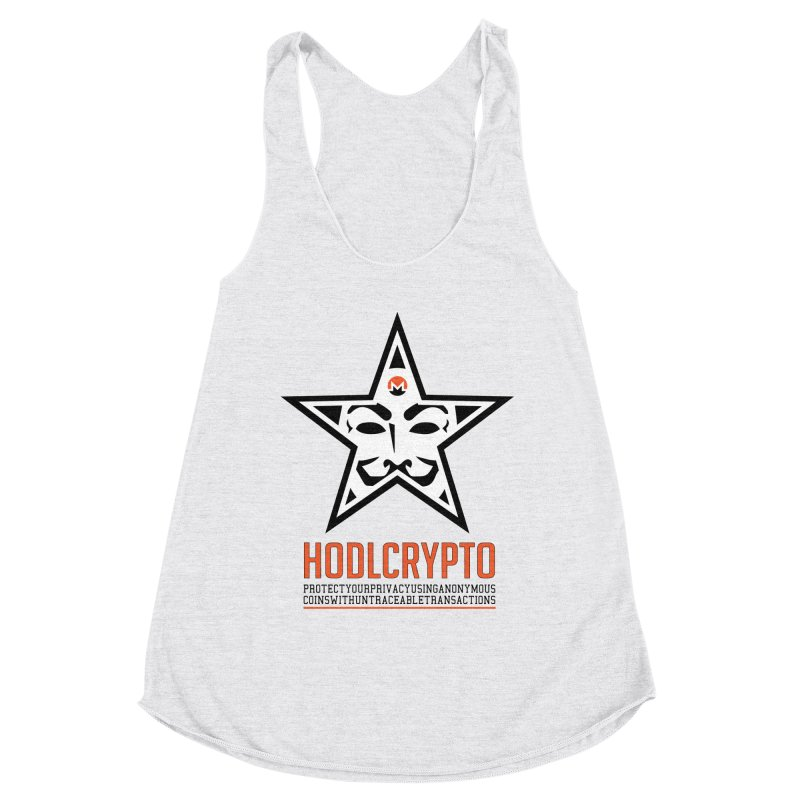 Protect your Privacy Women's Racerback Triblend Tank by HODL's Artist Shop