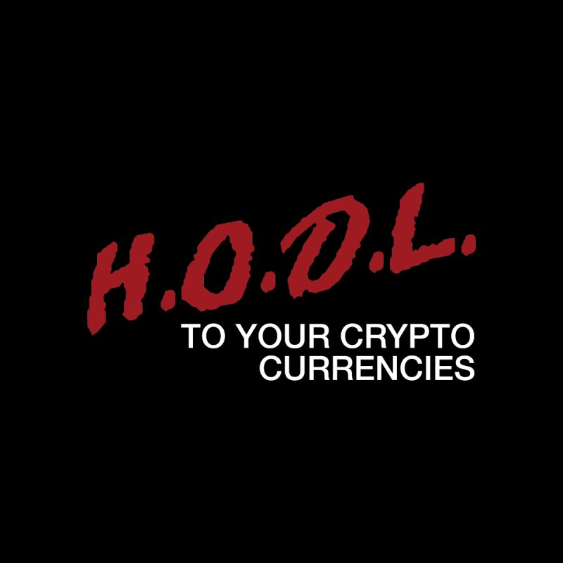 H.O.D.L. Men's Pullover Hoody by HODL's Artist Shop
