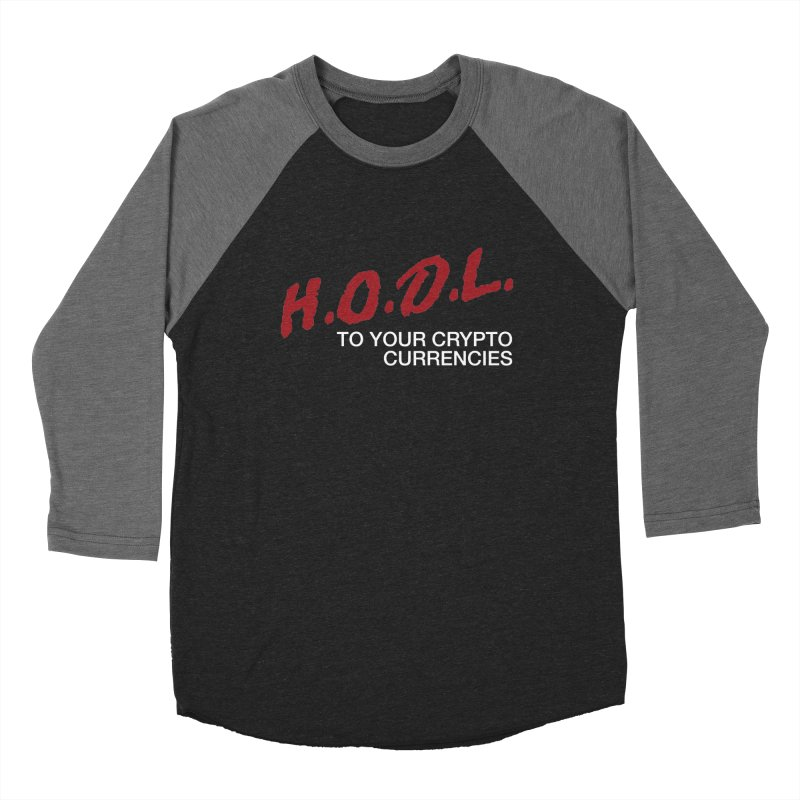 H.O.D.L. Men's Baseball Triblend Longsleeve T-Shirt by HODL's Artist Shop