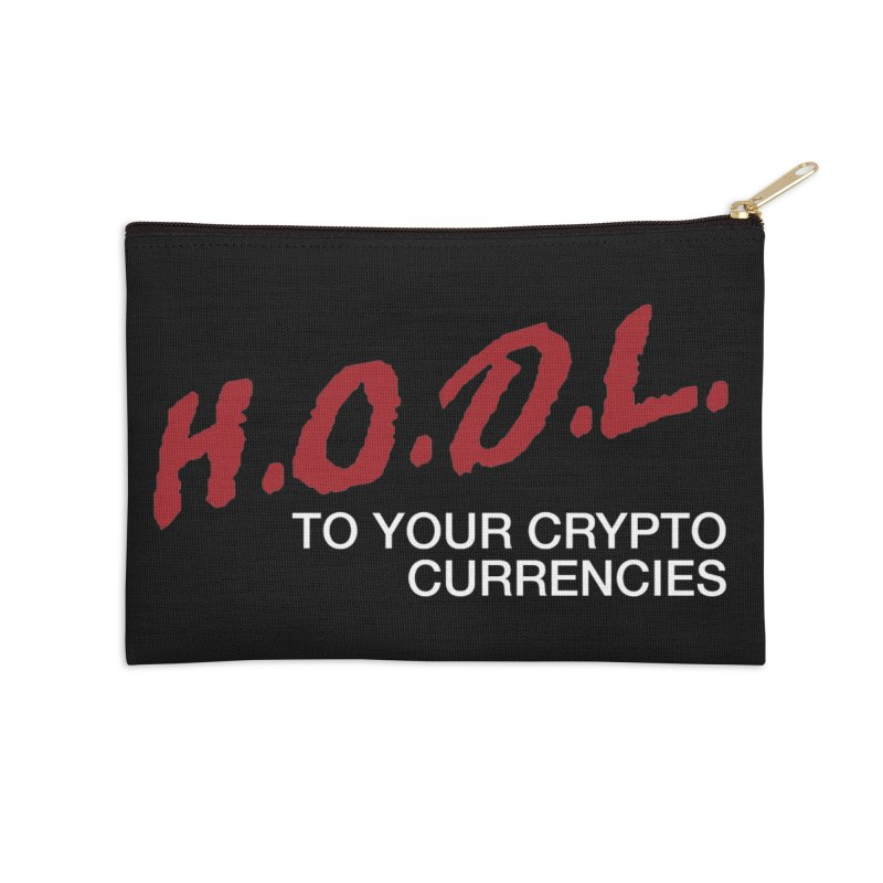 H.O.D.L. Accessories Zip Pouch by HODL's Artist Shop