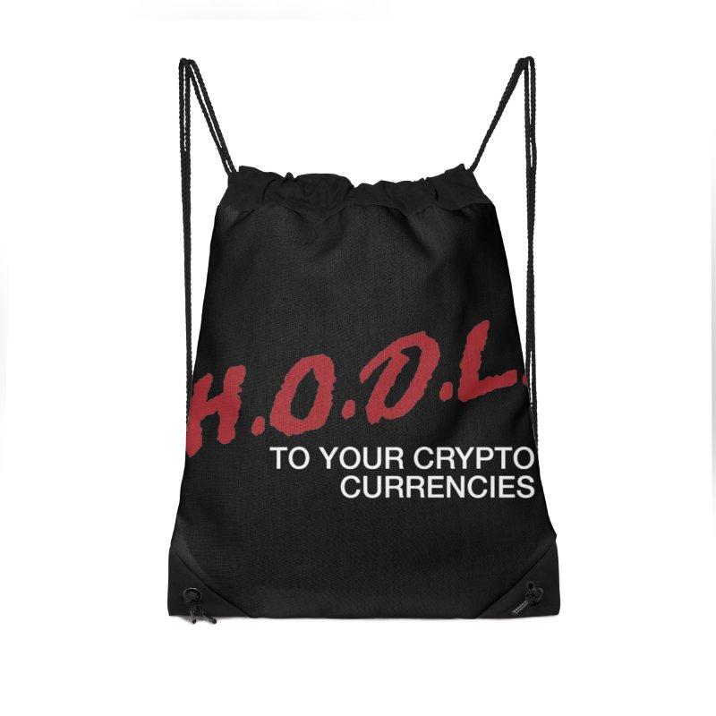 H.O.D.L. Accessories Drawstring Bag Bag by HODL's Artist Shop