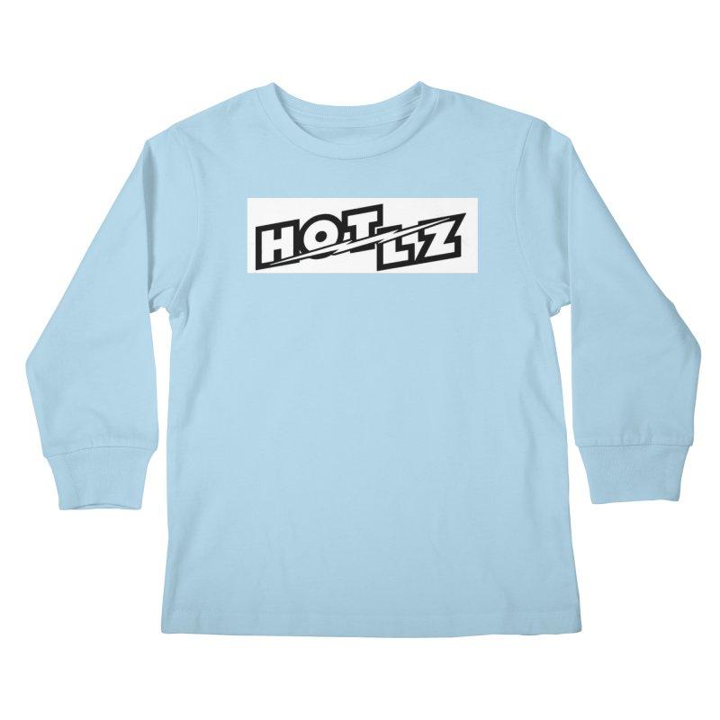 HOT LZ Lightning bolt Kids Longsleeve T-Shirt by HOTLZband's Artist Shop