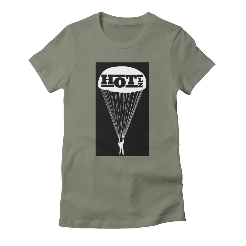 HOT LZ Jump Man Women's Fitted T-Shirt by HOTLZband's Artist Shop