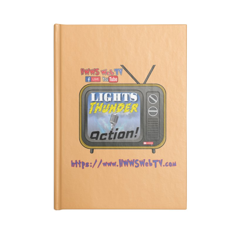 Lights Thunder Action on HWWS WebTV: T-Shirts, Phone Cases, Mugs and MORE ... Accessories Notebook by HWWSWebTV's Artist Shop