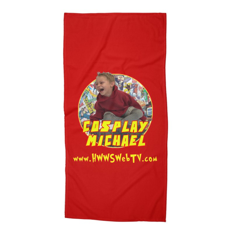 Cosplay Michael on HWWS WebTV: T-Shirts, Mugs, Stickers and MORE ... Accessories Beach Towel by HWWSWebTV's Artist Shop