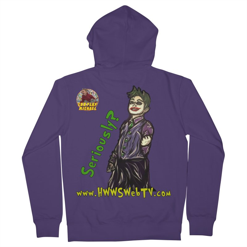 Cosplay Michael JOKER Seriously T-Shirts, Stickers and MORE ... Women's Zip-Up Hoody by HWWSWebTV's Artist Shop