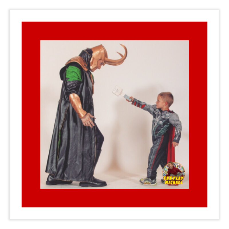 Cosplay Michael and Loki (Cosplay PRINT) Home Fine Art Print by HWWSWebTV's Artist Shop