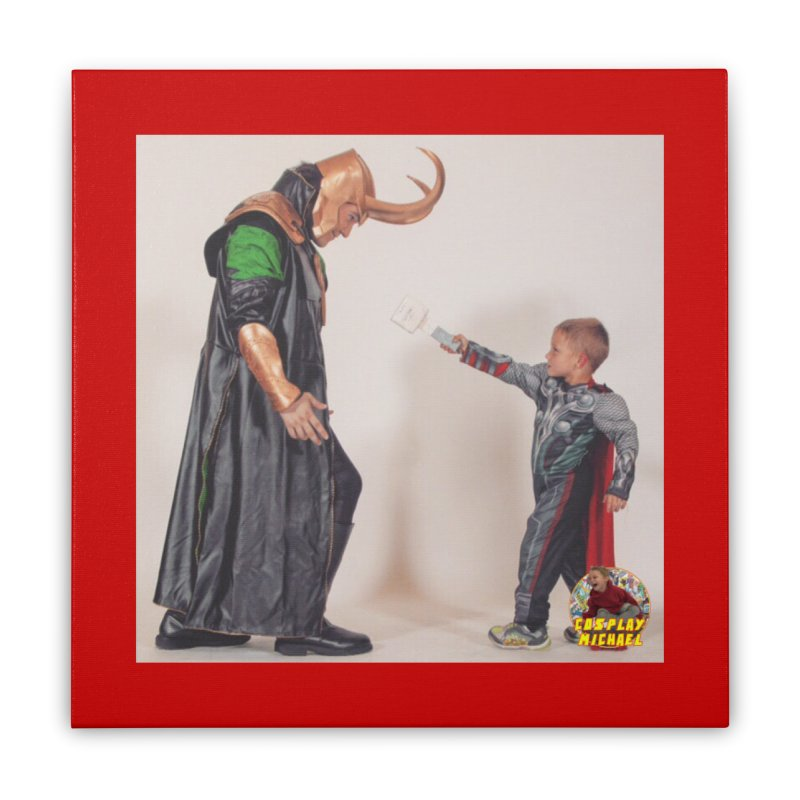 Cosplay Michael and Loki (Cosplay PRINT) Home Stretched Canvas by HWWSWebTV's Artist Shop