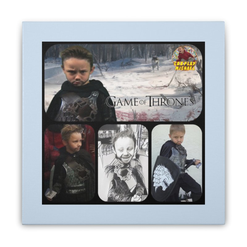 Cosplay Michael Jon Snow Game of Thrones Collage PRINT Home Stretched Canvas by HWWSWebTV's Artist Shop