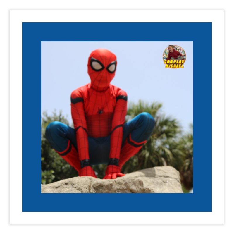 Cosplay Michael Spiderman PRINT Home Fine Art Print by HWWSWebTV's Artist Shop
