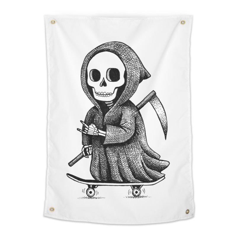 Skate or Die Home Tapestry by Habby's Art Shop