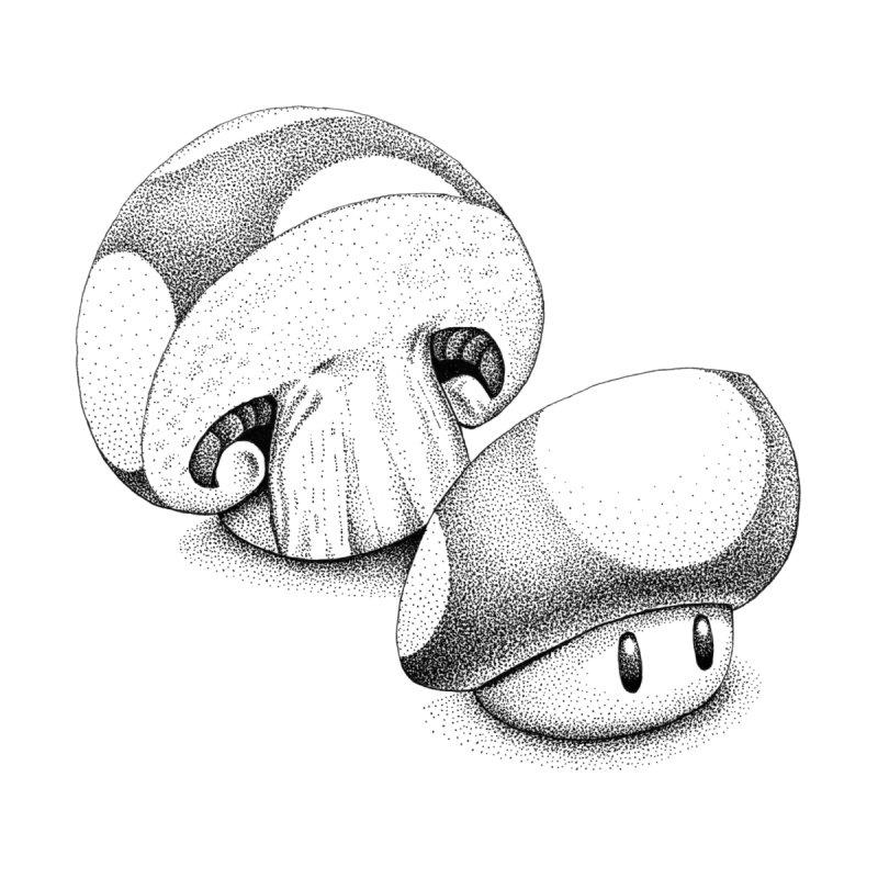 Sliced Mario Mushroom by Habby's Art Shop