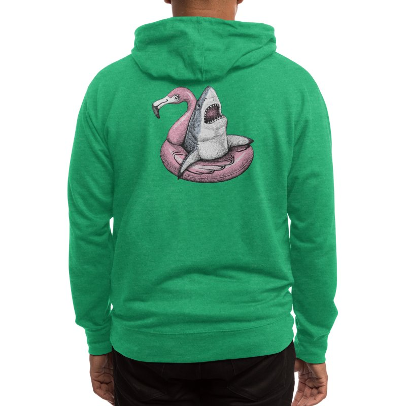 Ahhhhh. Time to Relax. (Color Version) Men's Zip-Up Hoody by Habby Art