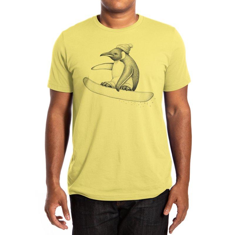 Flying Penguin Men's T-Shirt by Habby Art