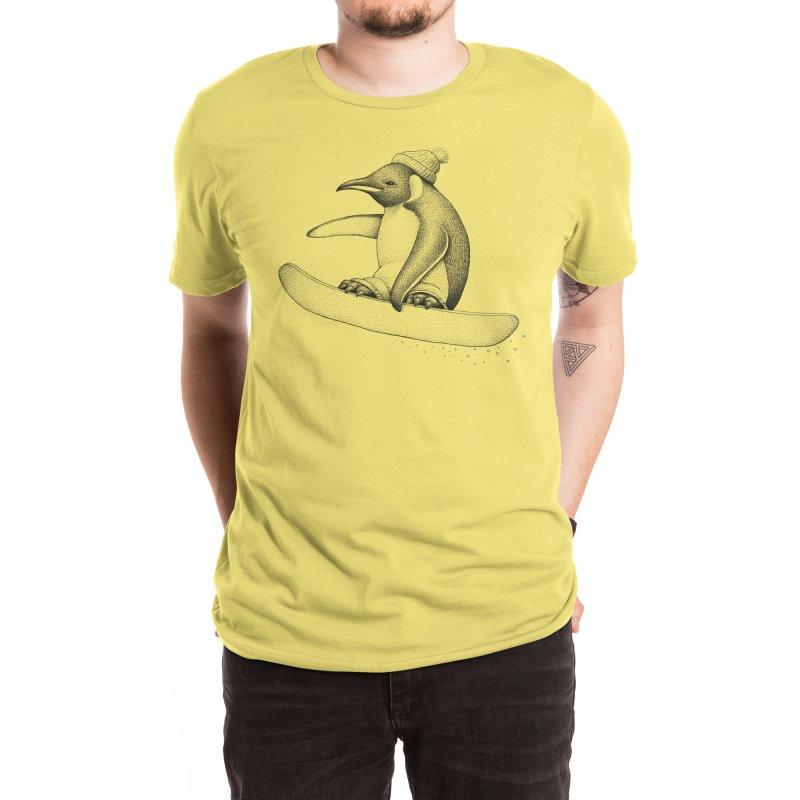 Flying Penguin Men's T-Shirt by Habby's Art Shop