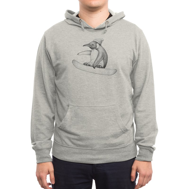 Flying Penguin Men's Pullover Hoody by Habby's Art Shop