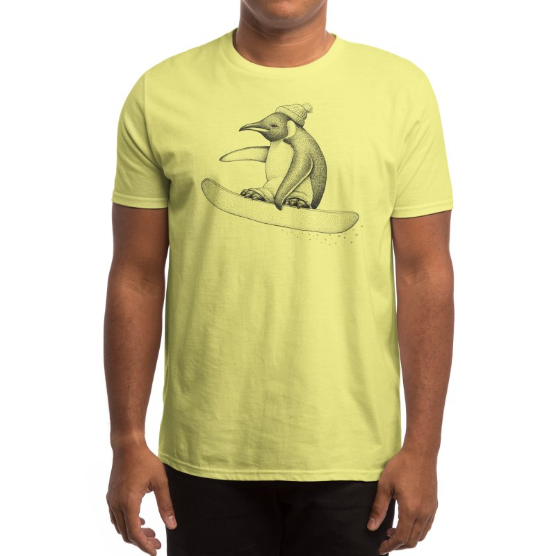 Flying Penguin Men's T-Shirt by Habby Art