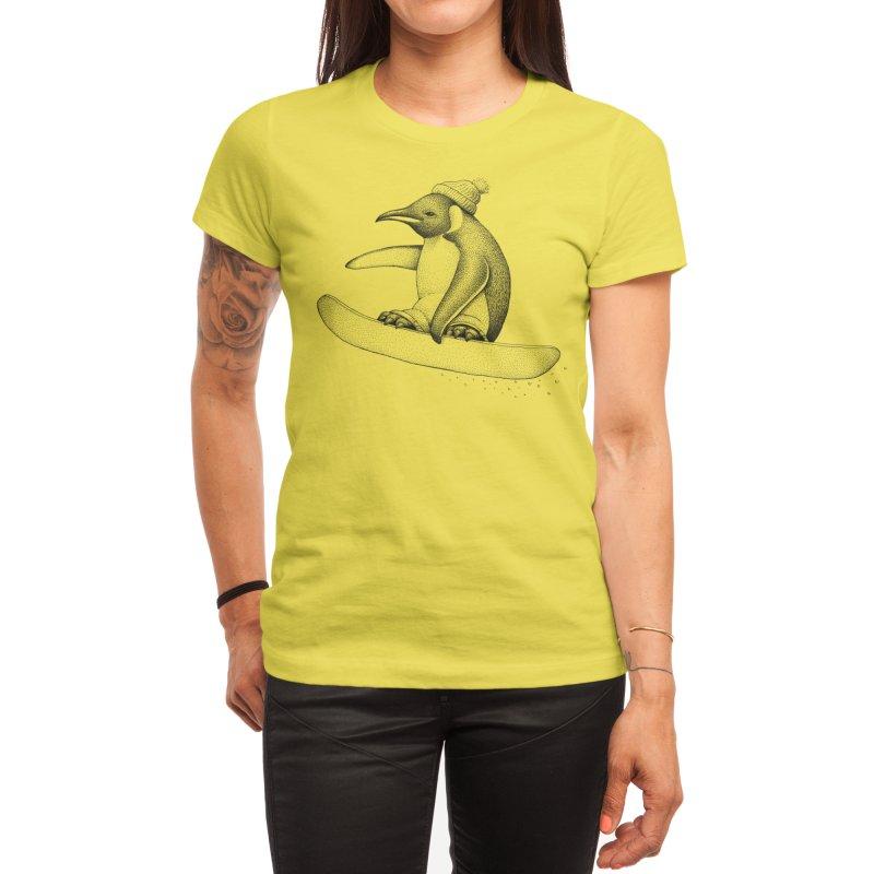 Flying Penguin Women's T-Shirt by Habby's Art Shop