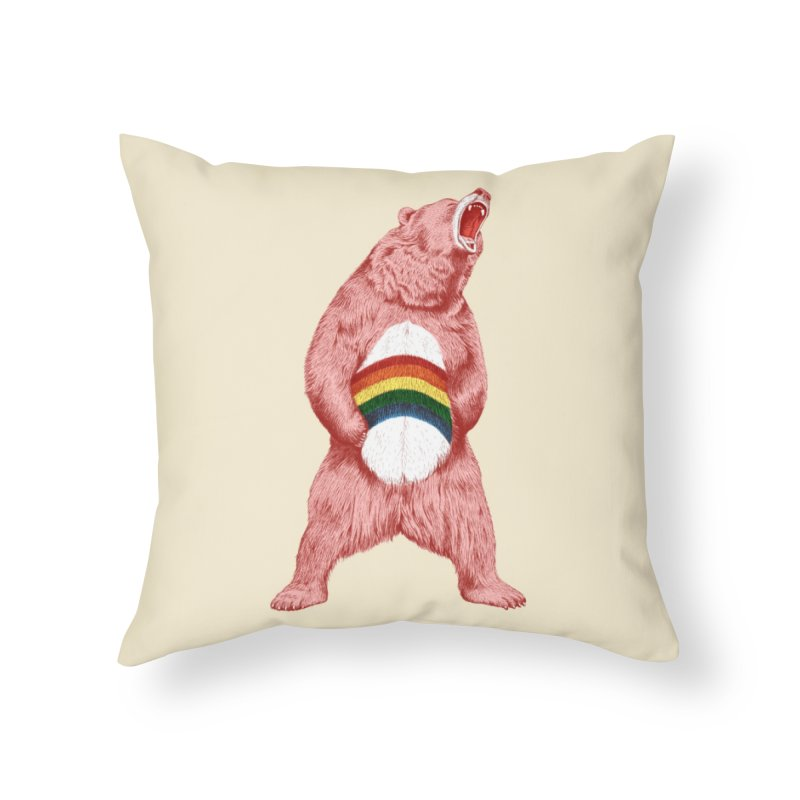 Still Caring Home Throw Pillow by Habby Art