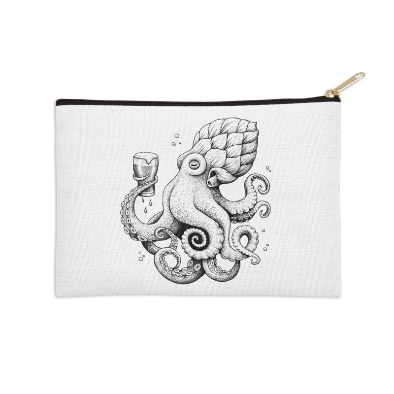Hoptopus Accessories Zip Pouch by Habby Art