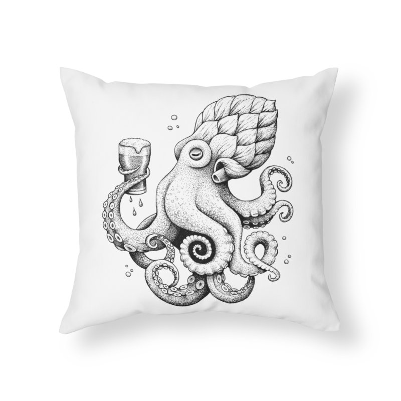 Hoptopus Home Throw Pillow by Habby Art