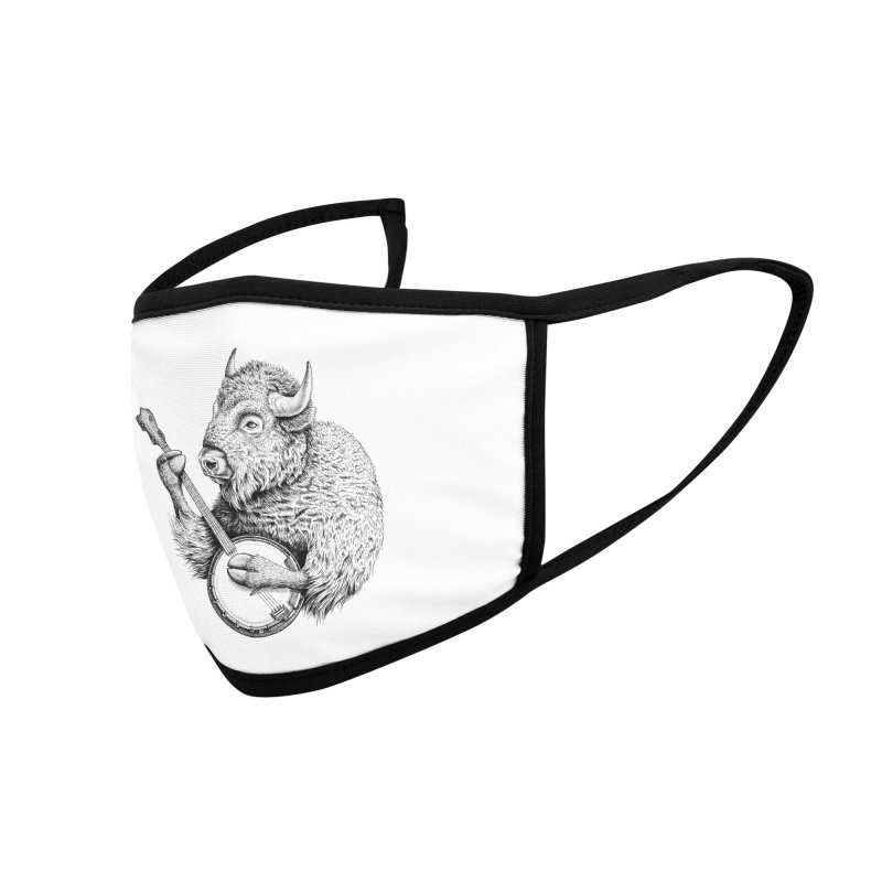 Banjo Bison Accessories Face Mask by Habby Art