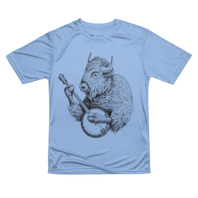 Banjo Bison Men's T-Shirt by Habby Art