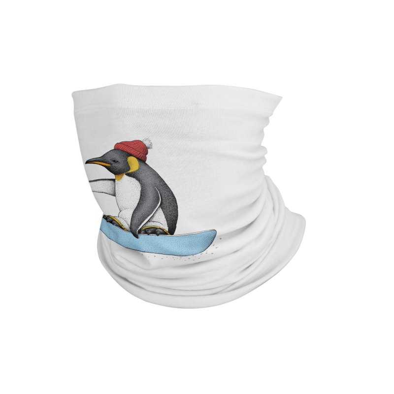 Flying Penguin (Color Version) Accessories Neck Gaiter by Habby Art