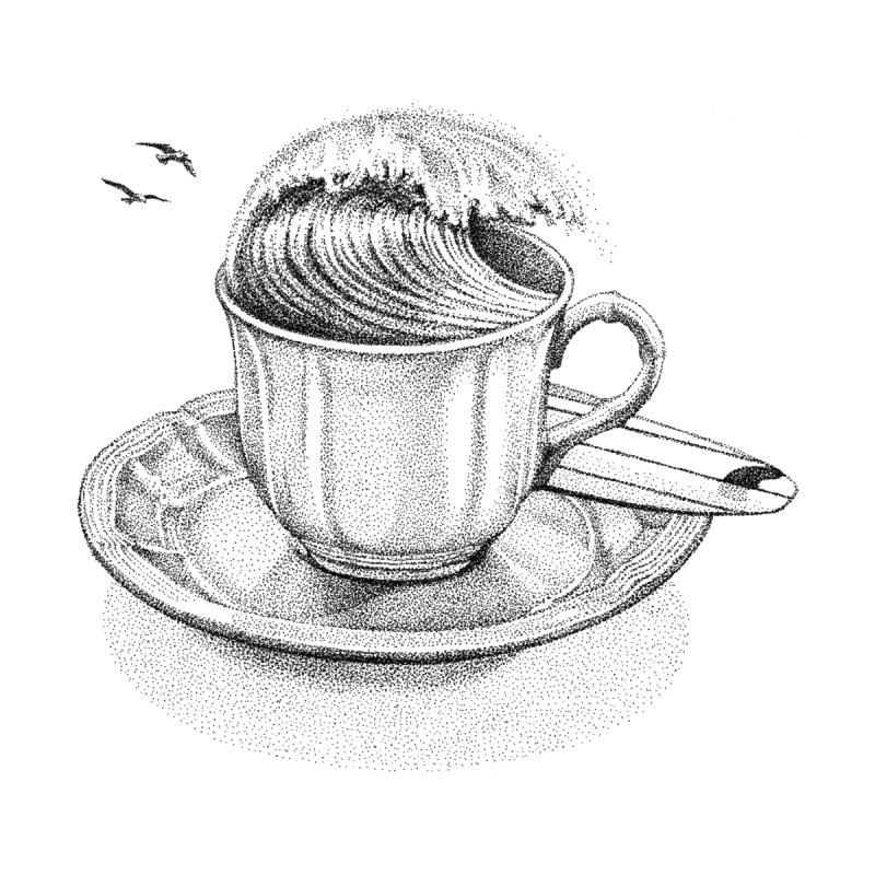 Coffee Break Women's Longsleeve T-Shirt by Habby's Art Shop