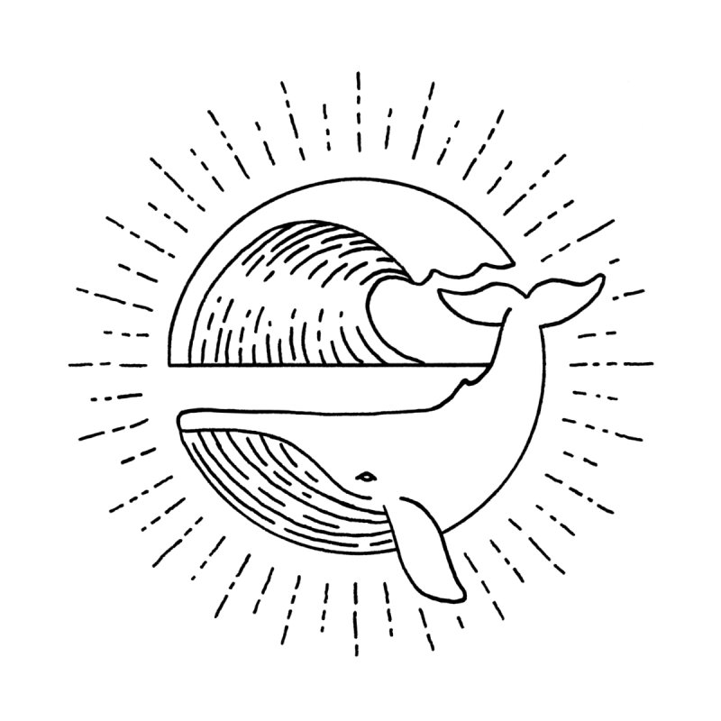 Wavy Whale by Habby's Art Shop