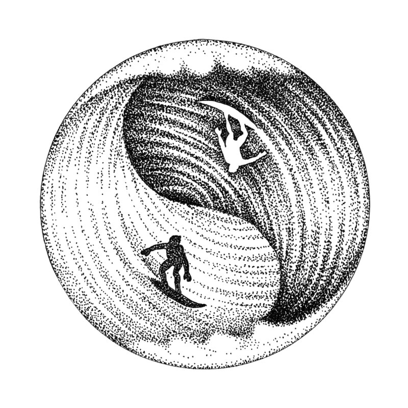 Yin Yang Surf by Habby's Art Shop